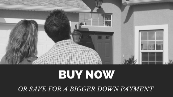 Buy Now Or Save For A Bigger Down Payment?